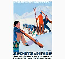 Sports D'Hiver, French Travel Poster Unisex T-Shirt