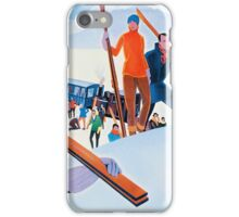 Sports D'Hiver, French Travel Poster iPhone Case/Skin