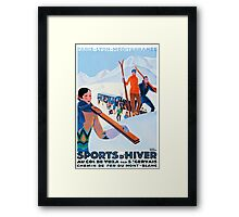 Sports D'Hiver, French Travel Poster Framed Print