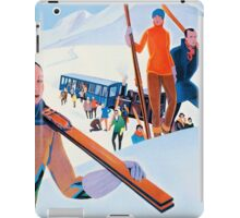 Sports D'Hiver, French Travel Poster iPad Case/Skin