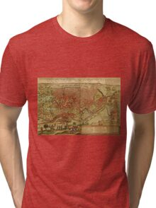 Cairo Vintage map.Geography Egypt ,city view,building,political,Lithography,historical fashion,geo design,Cartography,Country,Science,history,urban Tri-blend T-Shirt