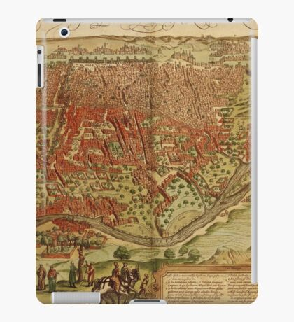 Cairo Vintage map.Geography Egypt ,city view,building,political,Lithography,historical fashion,geo design,Cartography,Country,Science,history,urban iPad Case/Skin