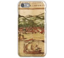Calicut Vintage map.Geography India ,city view,building,political,Lithography,historical fashion,geo design,Cartography,Country,Science,history,urban iPhone Case/Skin