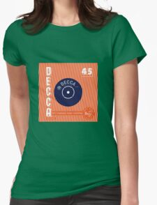 Decca Vintage Record Sleeve Vector Womens Fitted T-Shirt