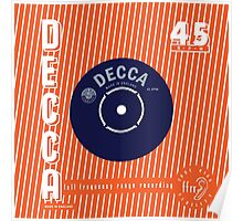 Decca Vintage Record Sleeve Vector Poster