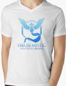 House Mystic (Game of Thrones + Pokemon GO) Special vers. Mens V-Neck T-Shirt