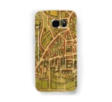 Cambridge Vintage map.Geography Great Britain ,city view,building,political,Lithography,historical fashion,geo design,Cartography,Country,Science,history,urban Samsung Galaxy Case/Skin