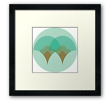 Nouveau Coquille Framed Print