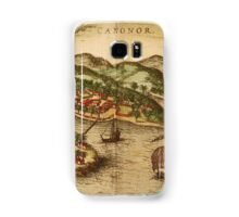 Cannonor Vintage map.Geography France ,city view,building,political,Lithography,historical fashion,geo design,Cartography,Country,Science,history,urban Samsung Galaxy Case/Skin