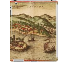 Cannonor Vintage map.Geography France ,city view,building,political,Lithography,historical fashion,geo design,Cartography,Country,Science,history,urban iPad Case/Skin