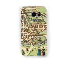 Canterbury Vintage map.Geography Great Britain ,city view,building,political,Lithography,historical fashion,geo design,Cartography,Country,Science,history,urban Samsung Galaxy Case/Skin