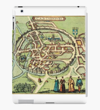Canterbury Vintage map.Geography Great Britain ,city view,building,political,Lithography,historical fashion,geo design,Cartography,Country,Science,history,urban iPad Case/Skin