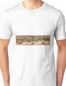 Cascais Vintage map.Geography Portugal ,city view,building,political,Lithography,historical fashion,geo design,Cartography,Country,Science,history,urban Unisex T-Shirt