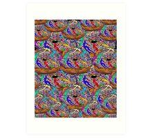 Human Donut Sprinkles Pattern Art Print