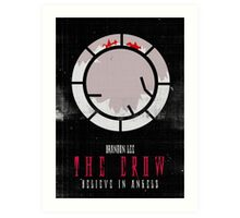 The Crow minimalist alternative movie poster Art Print
