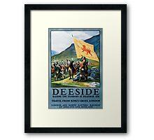 Deeside, British Travel Poster Framed Print