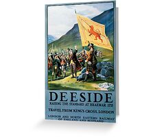 Deeside, British Travel Poster Greeting Card