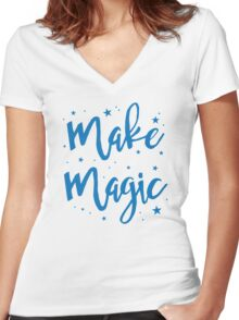 make magic Women's Fitted V-Neck T-Shirt