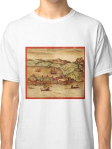 Ceuta Vintage map.Geography Spain ,city view,building,political,Lithography,historical fashion,geo design,Cartography,Country,Science,history,urban Classic T-Shirt