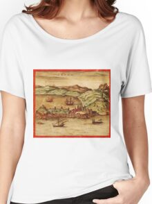 Ceuta Vintage map.Geography Spain ,city view,building,political,Lithography,historical fashion,geo design,Cartography,Country,Science,history,urban Women's Relaxed Fit T-Shirt