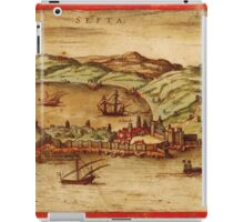 Ceuta Vintage map.Geography Spain ,city view,building,political,Lithography,historical fashion,geo design,Cartography,Country,Science,history,urban iPad Case/Skin