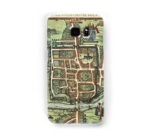 Chester Vintage map.Geography Great Britain ,city view,building,political,Lithography,historical fashion,geo design,Cartography,Country,Science,history,urban Samsung Galaxy Case/Skin