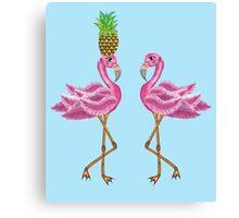 burlesque flamingos Canvas Print
