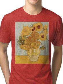 Sunflowers by Vincent Van Gogh Tri-blend T-Shirt