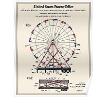 Amusement Ride Patent Poster
