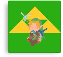Link Playing Ocarina Triforce Edition  Canvas Print