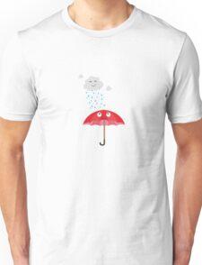 Rain cloud and umbrella   Unisex T-Shirt