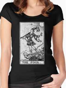 The Fool Tarot Card - Major Arcana - fortune telling - occult Women's Fitted Scoop T-Shirt