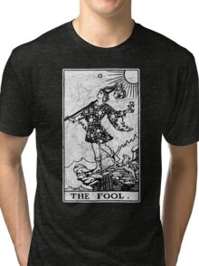 The Fool Tarot Card - Major Arcana - fortune telling - occult Tri-blend T-Shirt