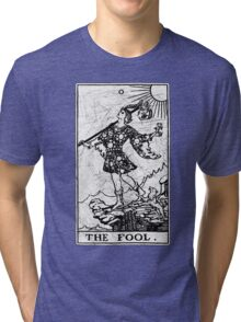 The Fool Tarot Card - Major Arcana - fortune telling - occult Tri-blend T-Shirt