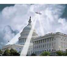 UFO Over Capital 2 Photographic Print