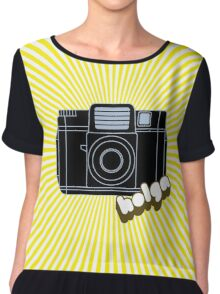 Holga Camera with Yellow Rays Chiffon Top