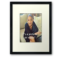 The Question Of Our Generation Framed Print