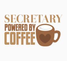 secretary powered by coffee Kids Tee