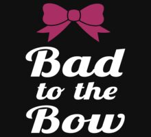 Bad to the Bow wht/blk by Glamfoxx