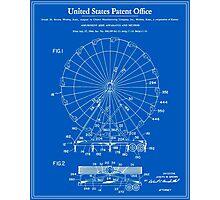 Amusement Ride Patent - Blueprint Photographic Print