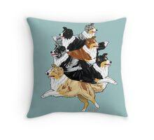 Aussiepile Throw Pillow