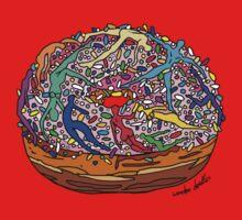 Human Donut Sprinkles 2 Pattern Baby Tee