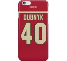 Minnesota Wild Devan Dubnyk Jersey Back Phone Case iPhone Case/Skin