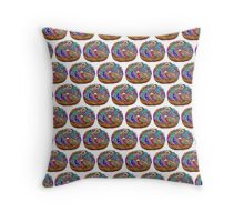 Human Donut Sprinkles 2 Pattern Throw Pillow