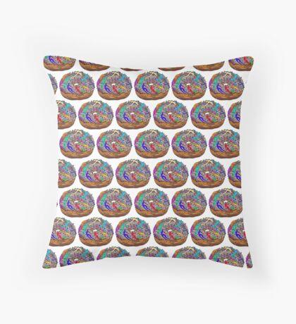 Human Donut Sprinkles 2 Pattern Throw Pillow