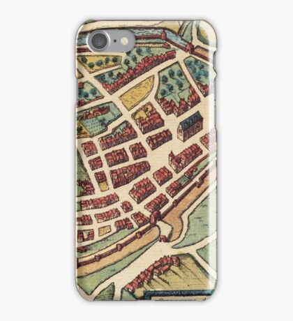 Chimay Vintage map.Geography Belgium ,city view,building,political,Lithography,historical fashion,geo design,Cartography,Country,Science,history,urban iPhone Case/Skin