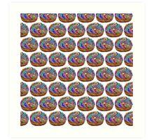Human Donut Sprinkles 2 Pattern Art Print