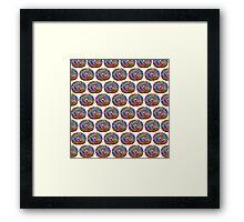 Human Donut Sprinkles 2 Pattern Framed Print