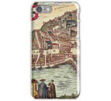 Coimbra Vintage map.Geography Portugal ,city view,building,political,Lithography,historical fashion,geo design,Cartography,Country,Science,history,urban iPhone Case/Skin