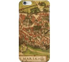 Colmar Vintage map.Geography France ,city view,building,political,Lithography,historical fashion,geo design,Cartography,Country,Science,history,urban iPhone Case/Skin